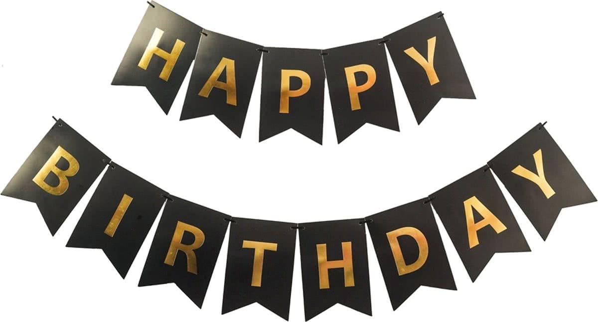 Happy Birthday Slinger Verjaardag Zwart 8714304087989