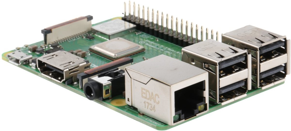 RPI-3MODBPLUS, 3 Model B +, 1,4 GHz single-port computer, dual-band wifi, Bluetooth 4.2, PoE compatibel