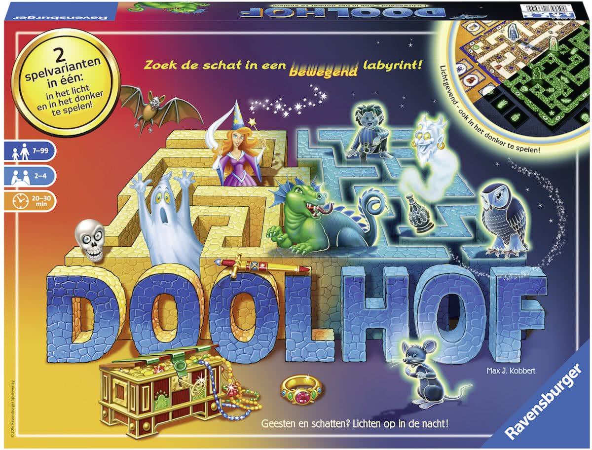 Doolhof Glow in the dark - Bordspel