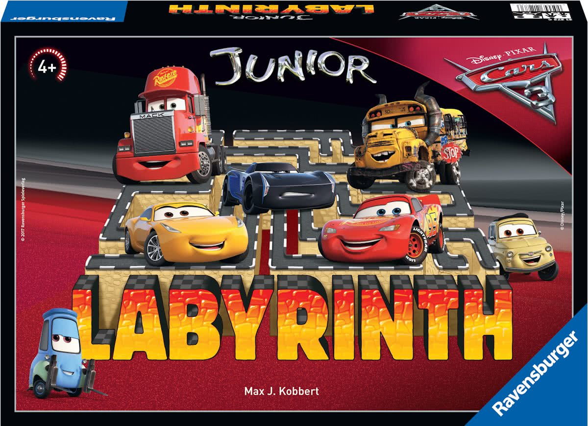Ravensburger Labyrinth junior Disney Cars 3 - bordspel