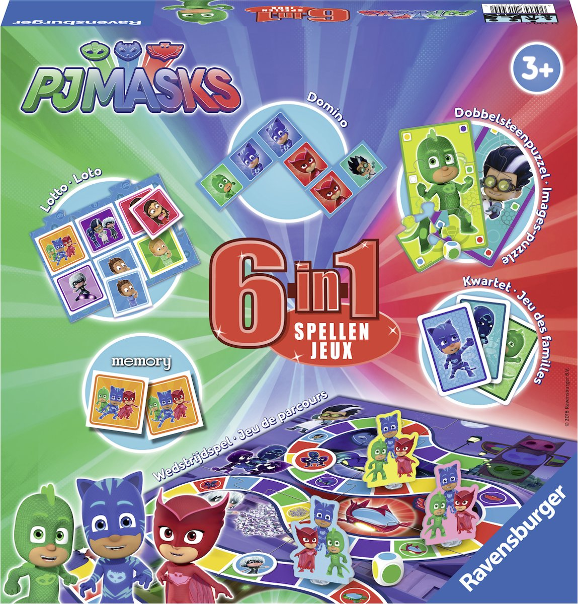 Ravensburger PJ Masks 6 in 1 - spellendoos