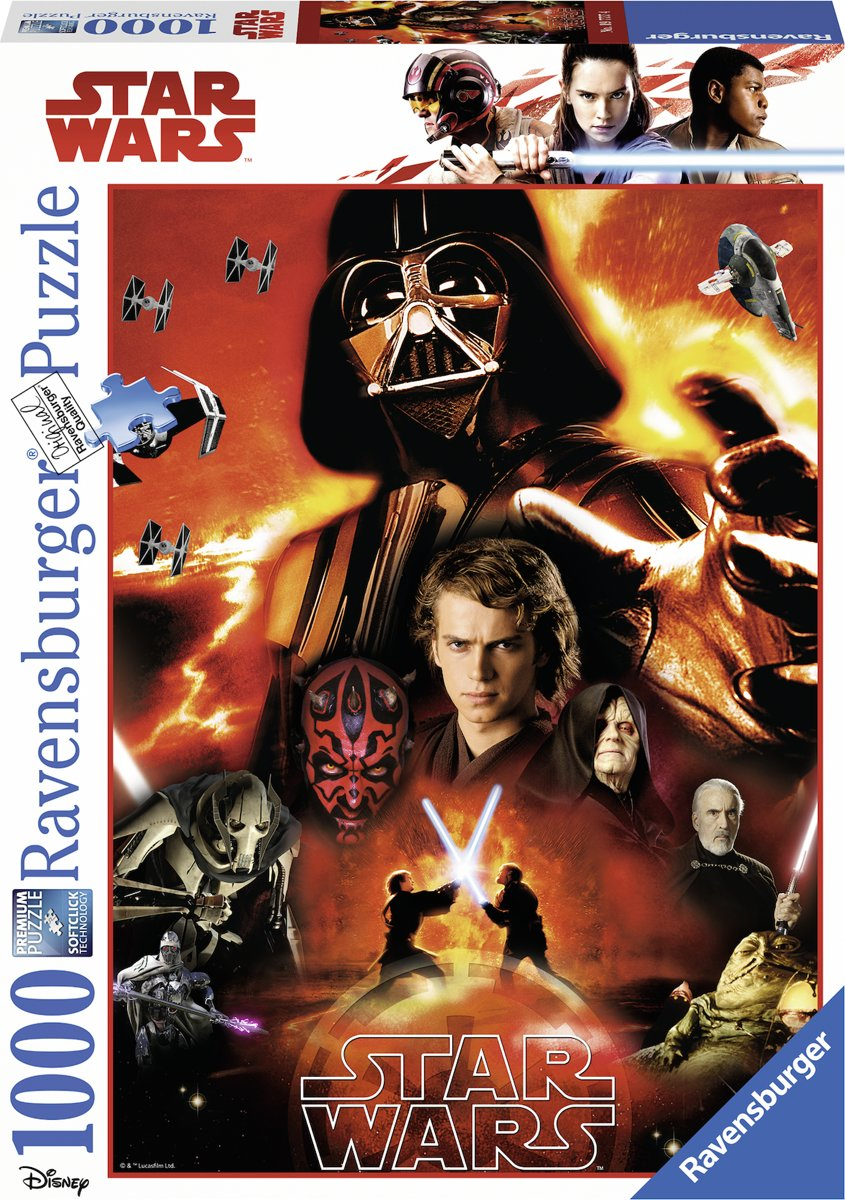 Ravensburger Star Wars puzzel The dark side of Star Wars - Legpuzzel - 1000 stukjes