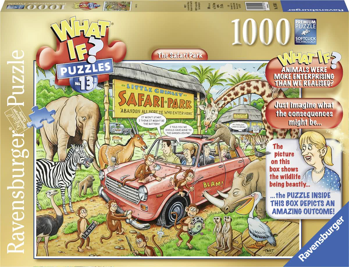 What If? 13 The Safari Park - Puzzel van 1000 stukjes