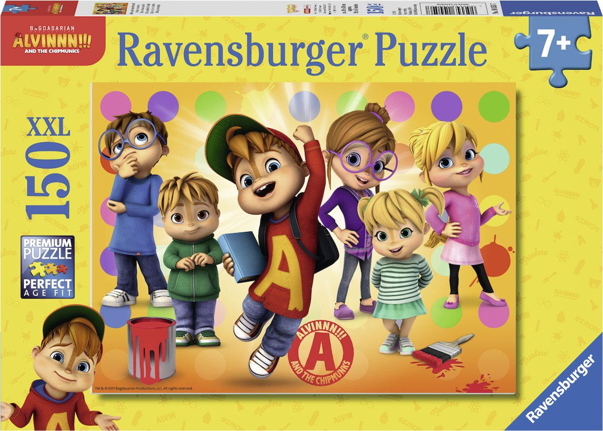 Ravensburger puzzel Alvin and his friends - legpuzzel - 150 stukjes