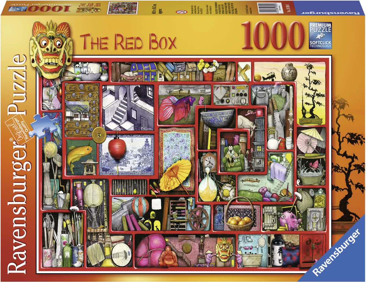 puzzel Colin Thompson The red box - Legpuzzel - 1000 stukjes