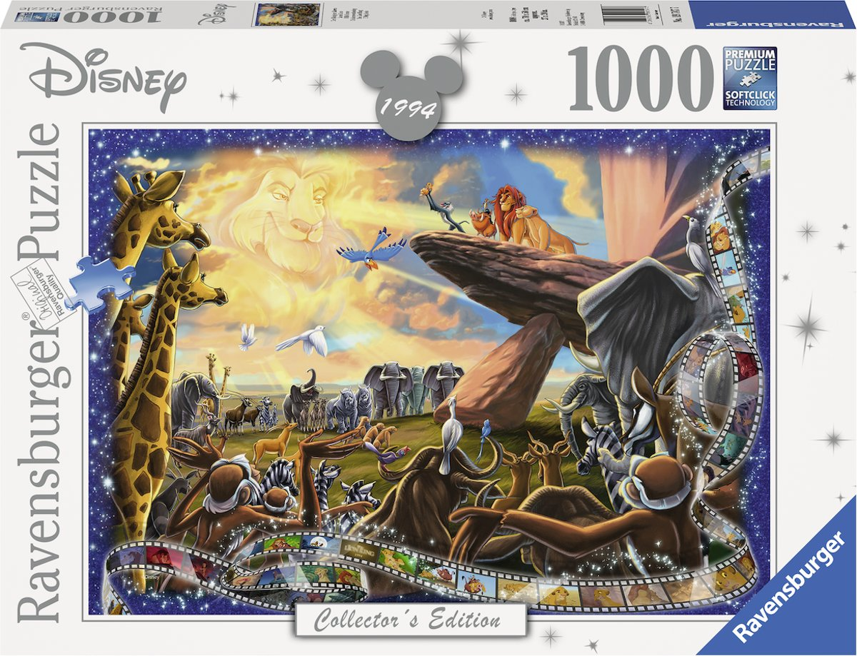 puzzel Disney The Lion King - Legpuzzel - 1000 stukjes