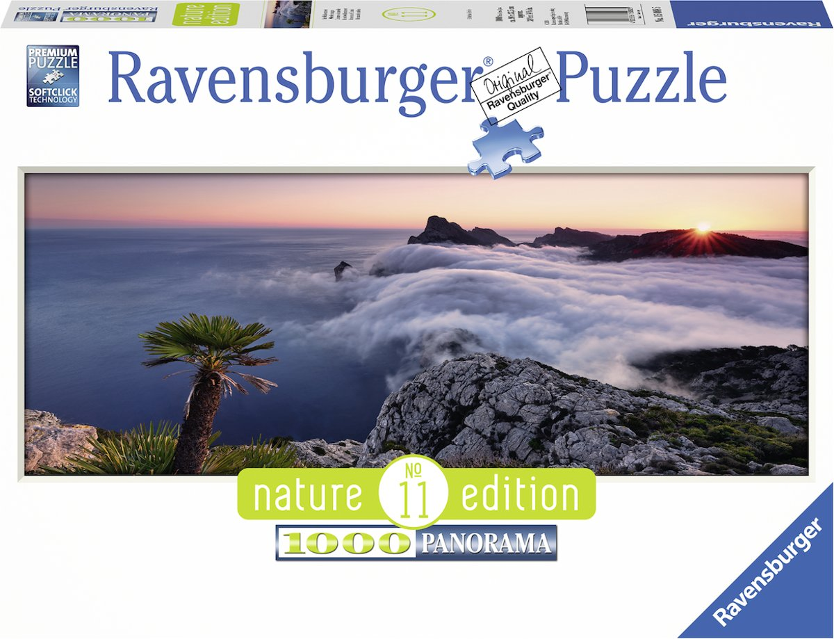 Ravensburger puzzel In a Sea of Clouds - panorama - Legpuzzel - 1000 stukjes
