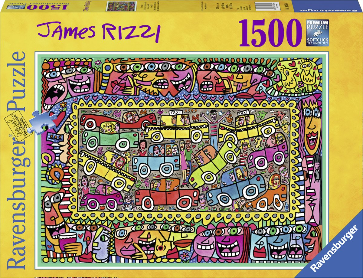 puzzel James Rizzi: We are on our way to your party - legpuzzel - 1500 stukjes