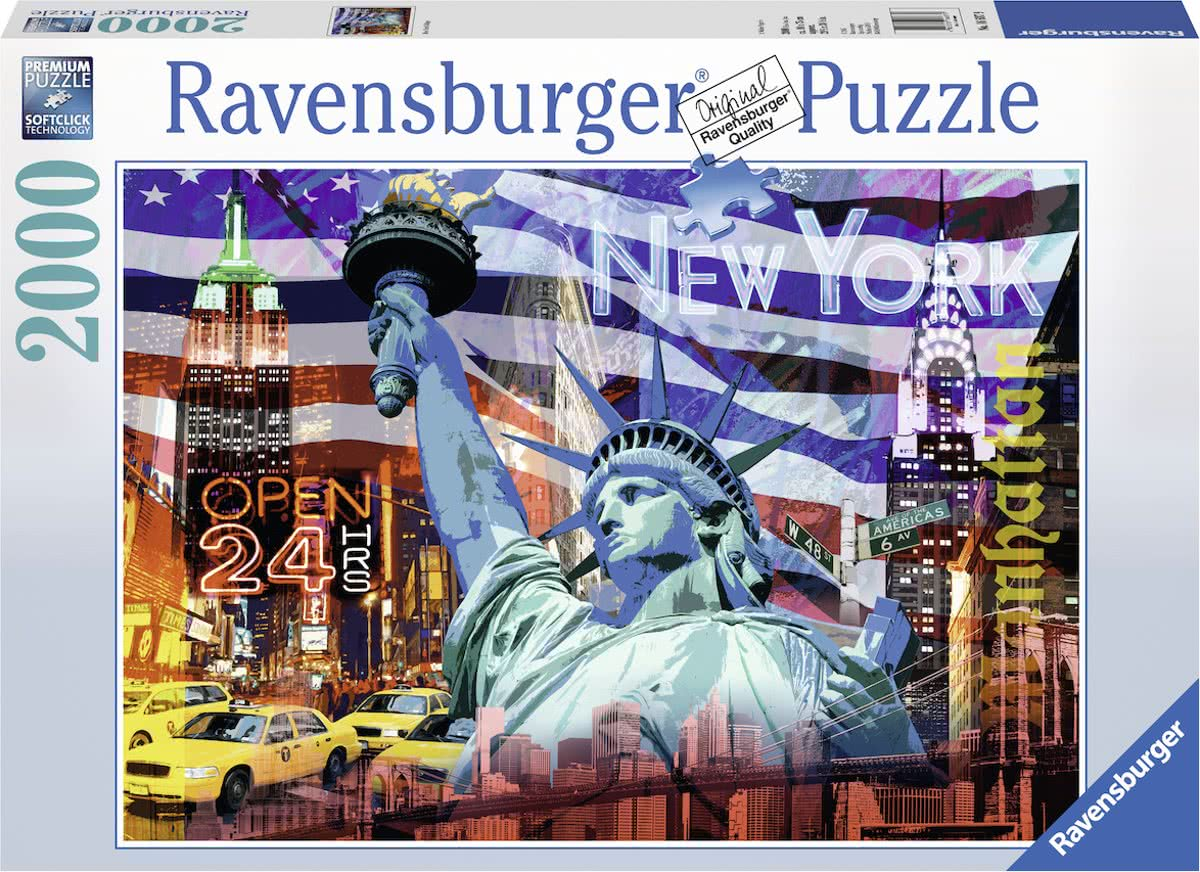puzzel New York Collage - Legpuzzel - 2000 stukjes
