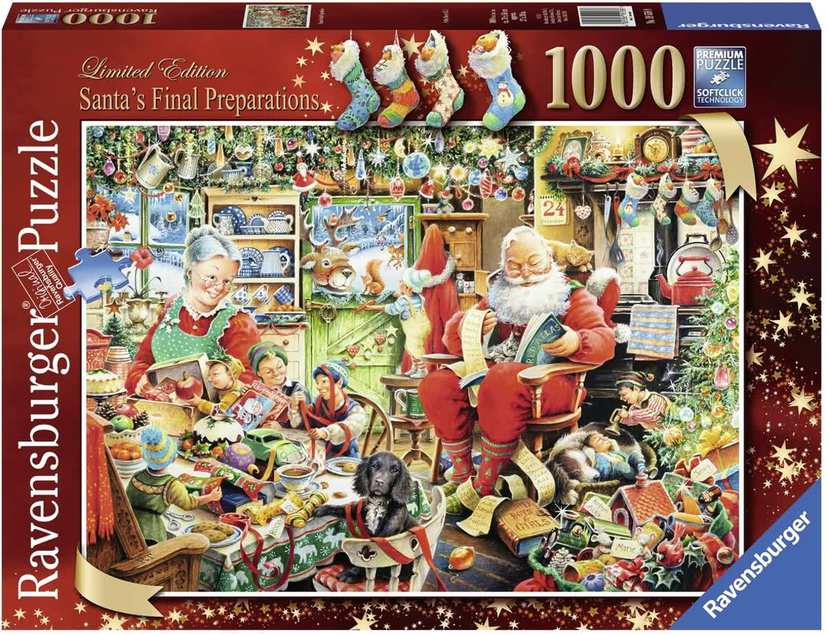 puzzel Santas Final Preparations - Legpuzzel - 1000 stukjes