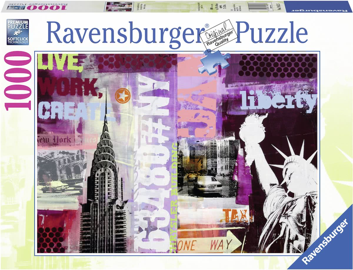 puzzel Style Collage New York City - Legpuzzel - 1000 stukjes