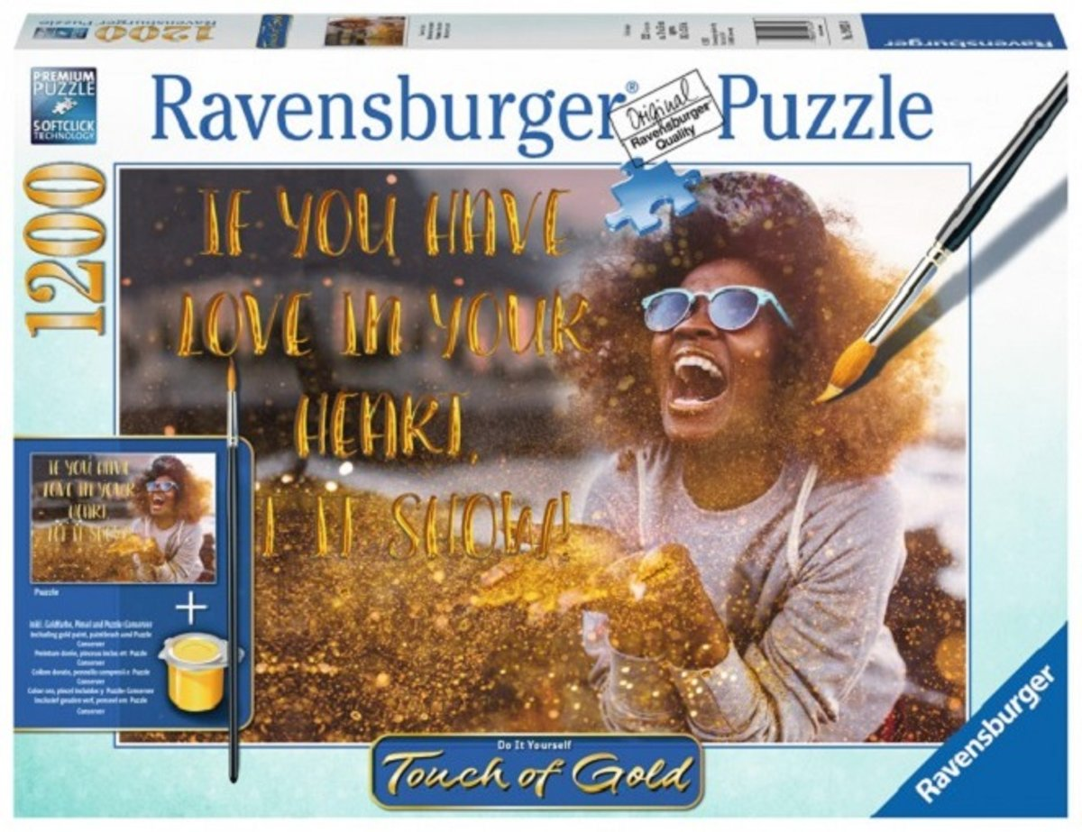 ravensburger puzzle: touch of gold