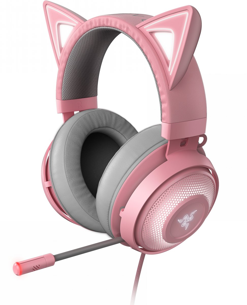 Razer Kraken Gaming Headset Kitty Edition - PC - Roze
