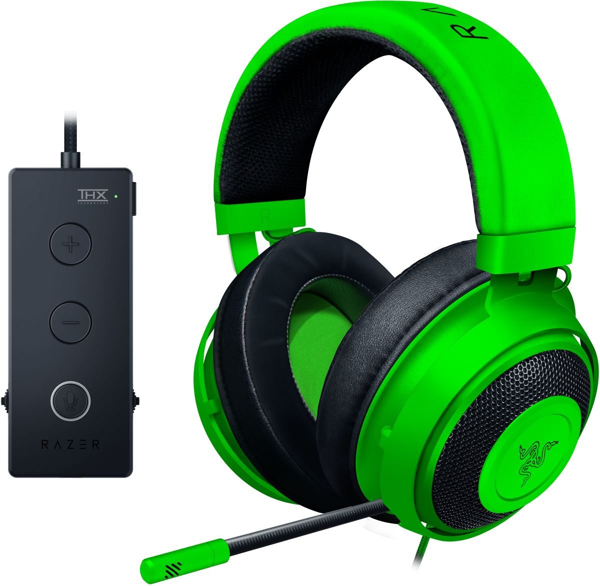 Kraken Tournament Edition - Gaming Headset - Groen - Windows + PS4