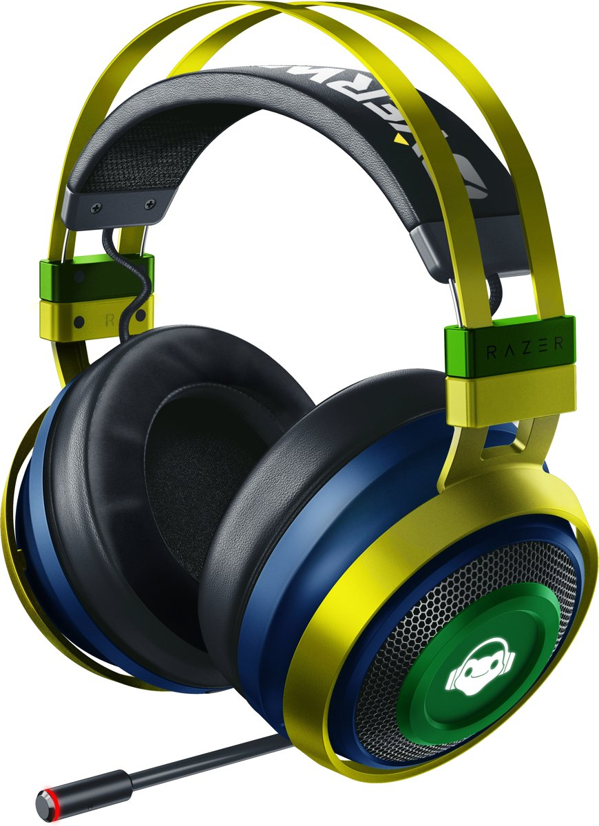 Razer Nari Ultimate Wireless Headset - Overwatch Lucio Ed.