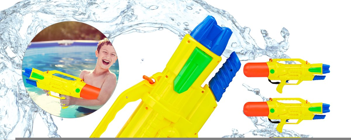 relaxdays 10 x waterpistool - super soaker kinderen - waterkanon - water pistool - 1.8 L