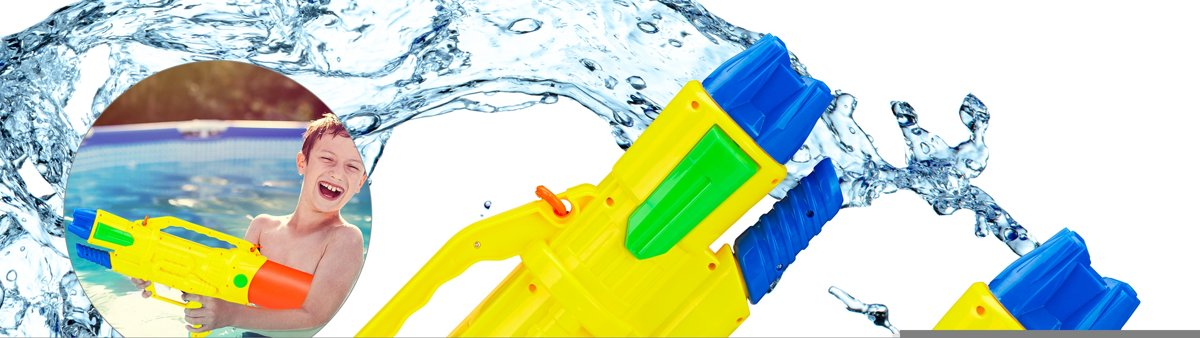 relaxdays 2 x waterpistool - super soaker kinderen - waterkanon - water pistool - 1.8 L