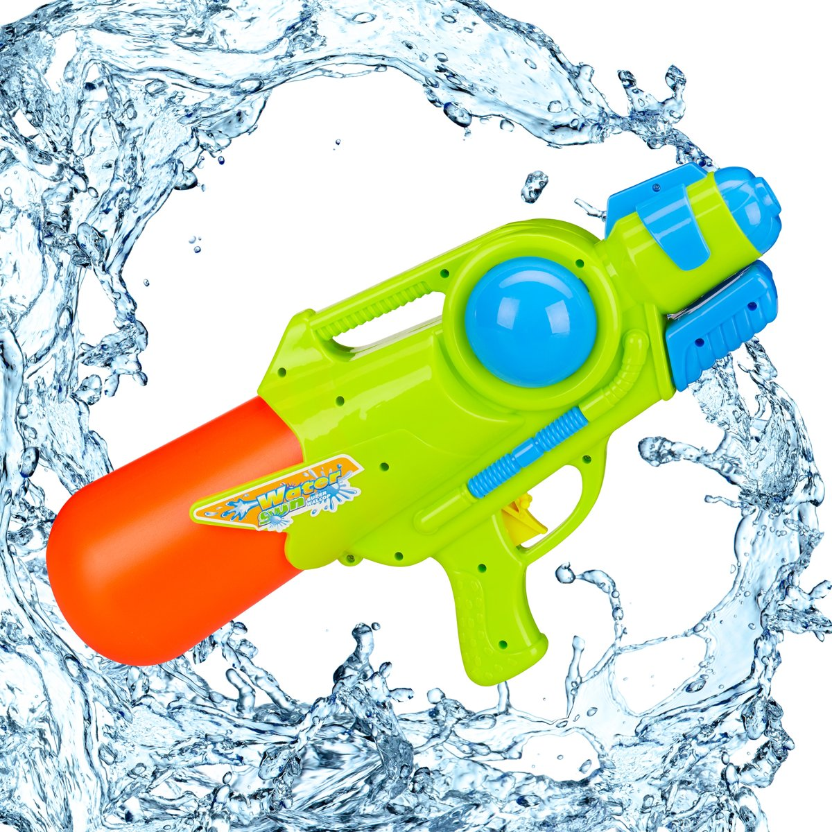relaxdays waterpistool - super soaker kinderen - water gun - 1 liter reservoir - gekleurd