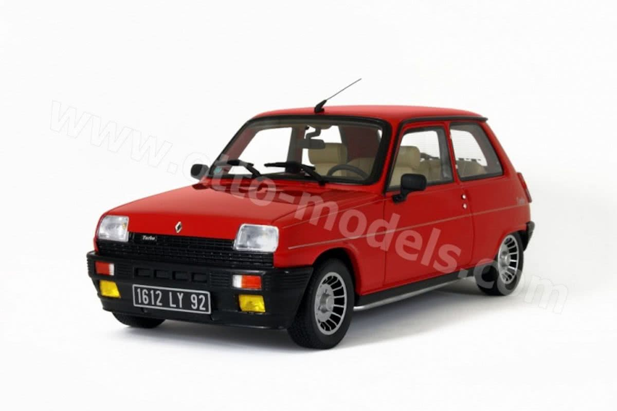 Renault 5 Alpine Turbo 1983 Rood 1-18 Otto Mobile Limited 1500 Pieces