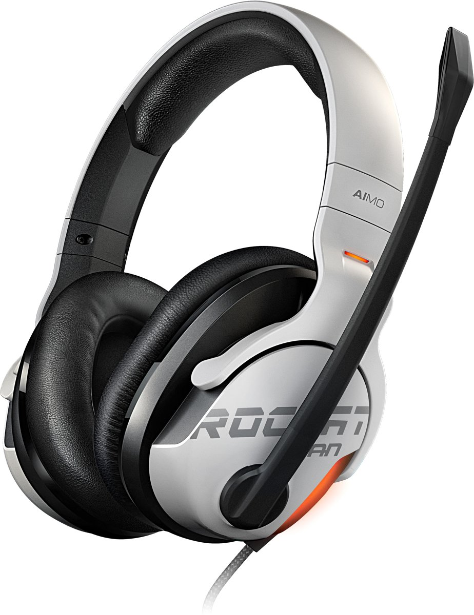 - KHAN AIMO - 7.1 High Resolution RGB Gaming Headset - White