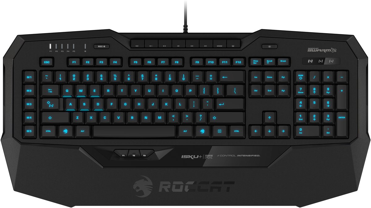 Roccat Isku+ Force FX - Gaming Toetsenbord - RGB Colouring - Pressure-Sensitive Key Zone - Qwerty