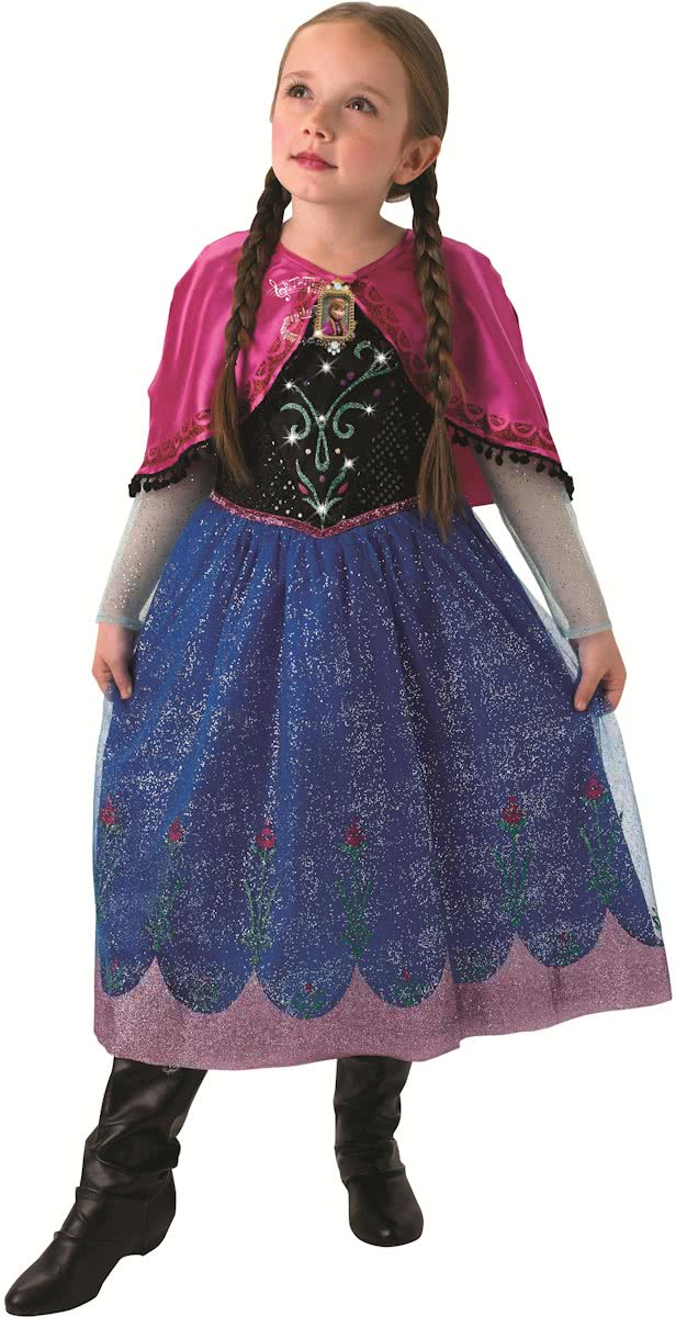 Disney Frozen Anna Musical and Light Up - Kostuum Kind - Maat 128/140