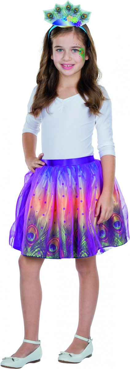 Kinderkostuum Peacock Tutu Multicolor One Size