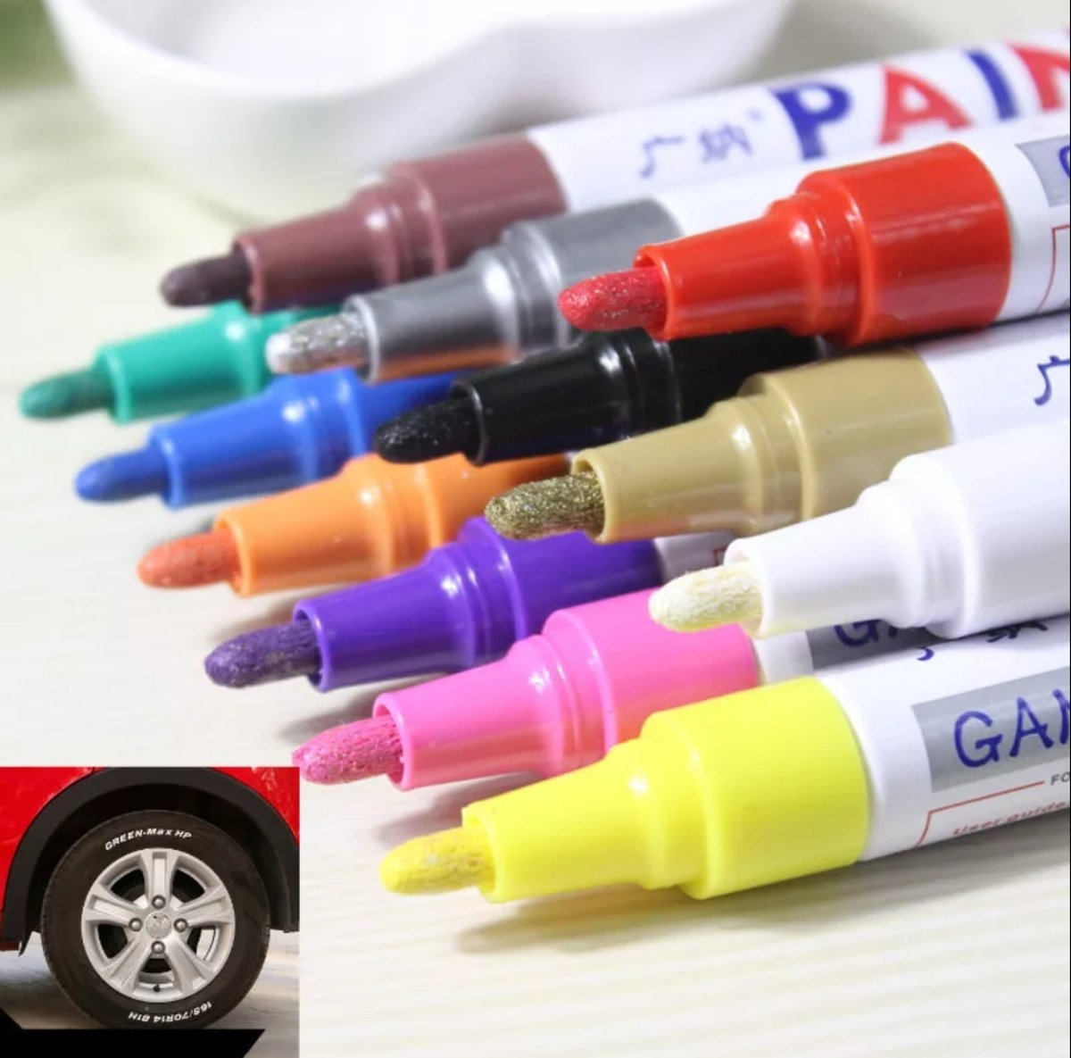 PAINT MARKER PERMANENT WIT STIFT KINDEREN KNUTSELEN METALLIC