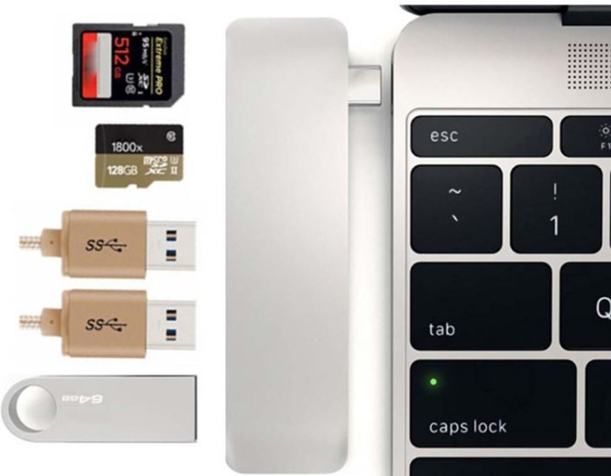 Type-C USB Combo   - Space Grey - 3x USB - 1x SD - 1x Micro SD - Macbook Pro / Surface Book / Dell XPS / Asus Zenbook / MSI / Lenovo Yoga / HP Spectre / Samsung S9 / Plus / S8