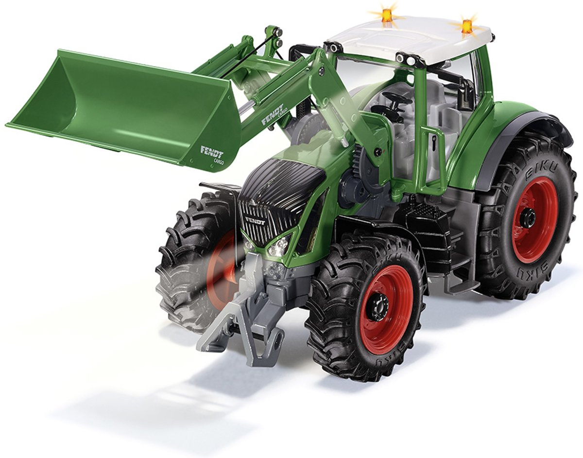 Fendt 933 Vario with front loader and bluetooth app control