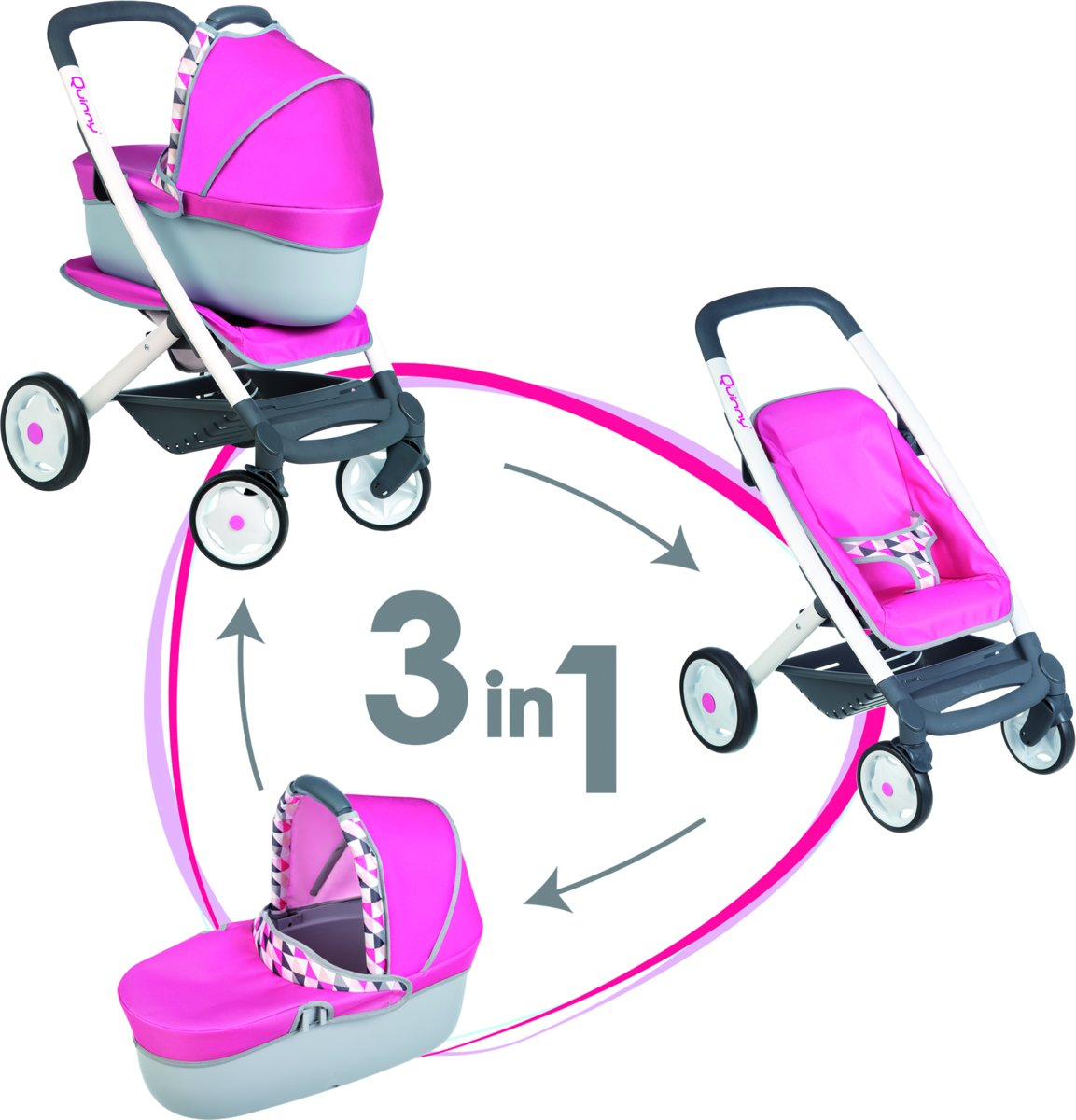 Smoby Quinny 3-in-1 Poppenwagen