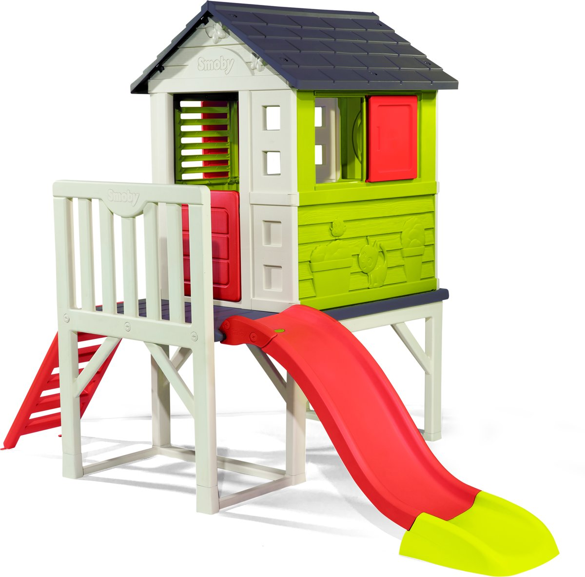 Smoby paalwoning 260x160x197cm -