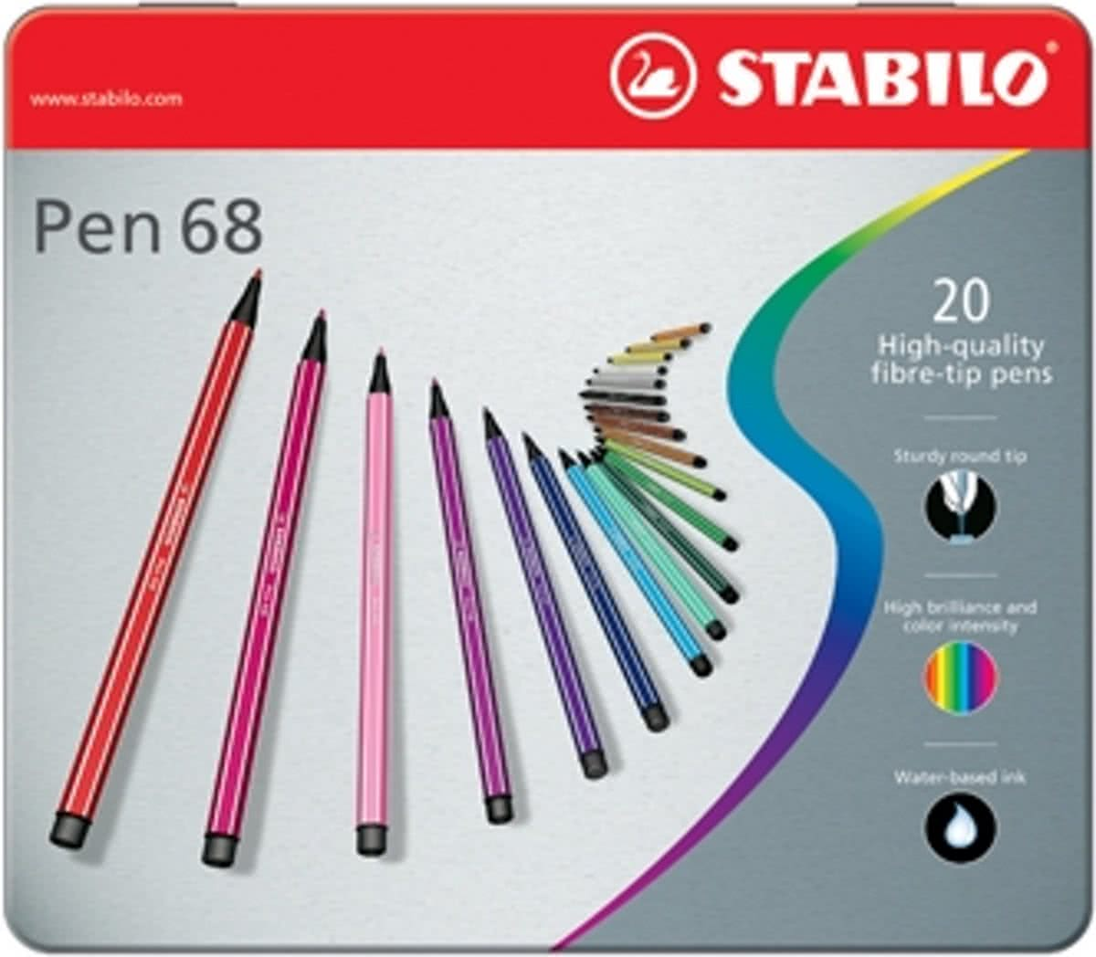 Pen 68 20   - Metalen Etui