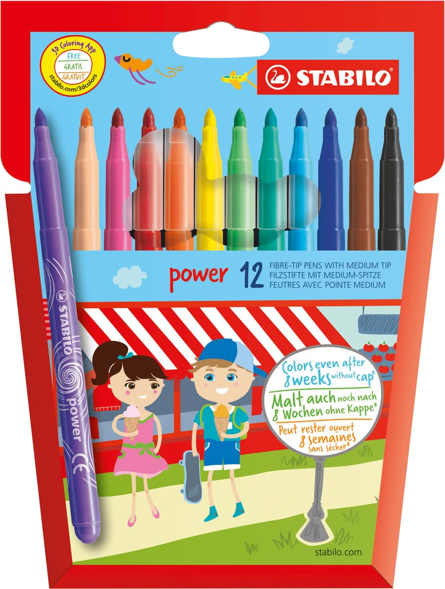 Stabilo Power - Etui - 12