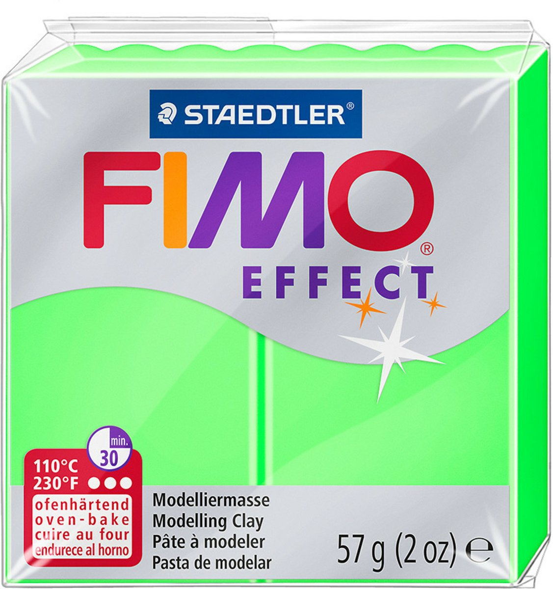 Fimo Effect klei neon green