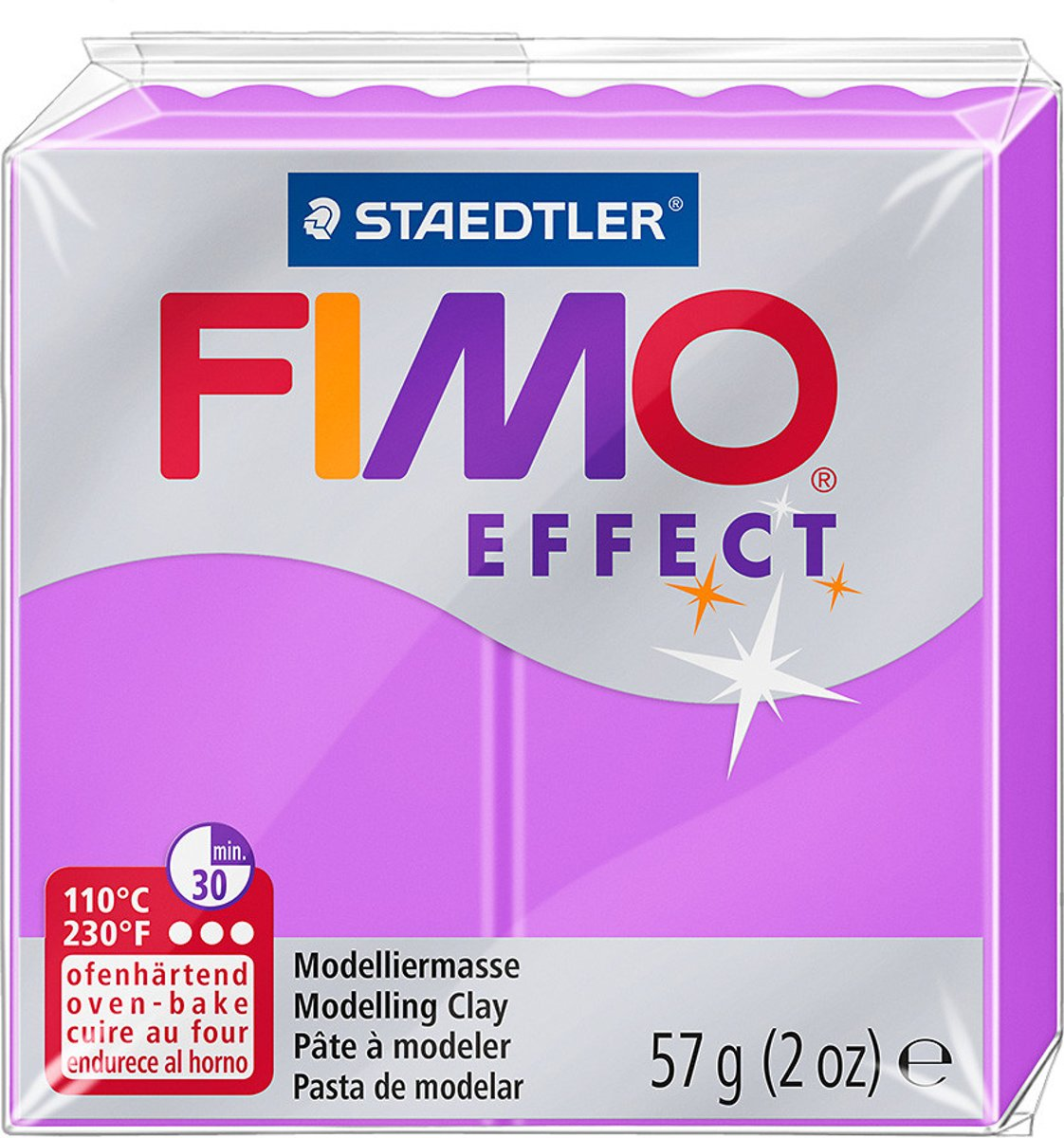 Fimo Effect klei neon purple