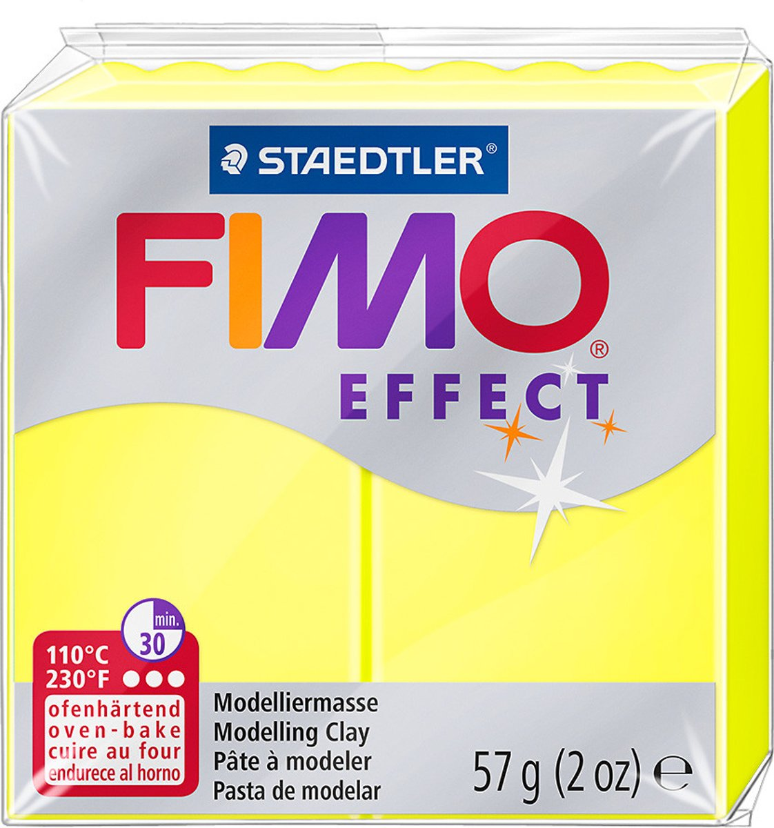 Fimo Effect klei neon yellow