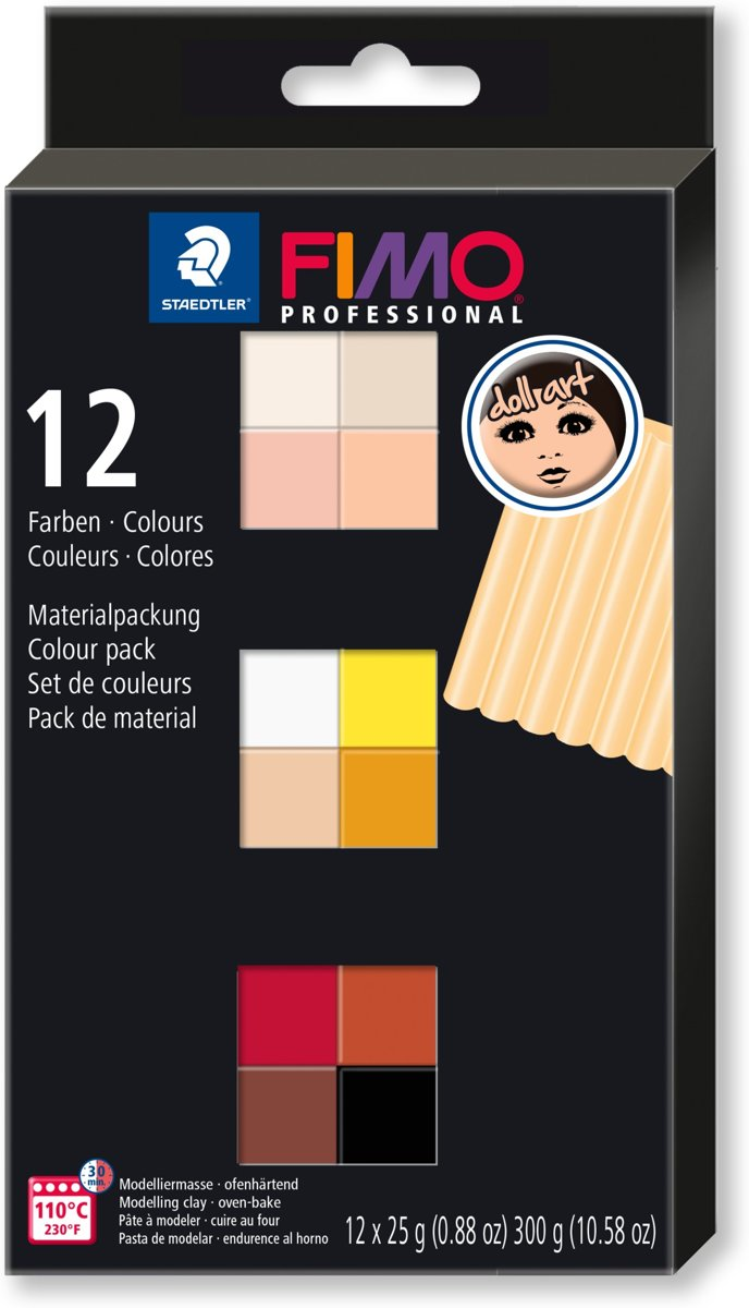 Fimo professional doll art colour pack 12 st