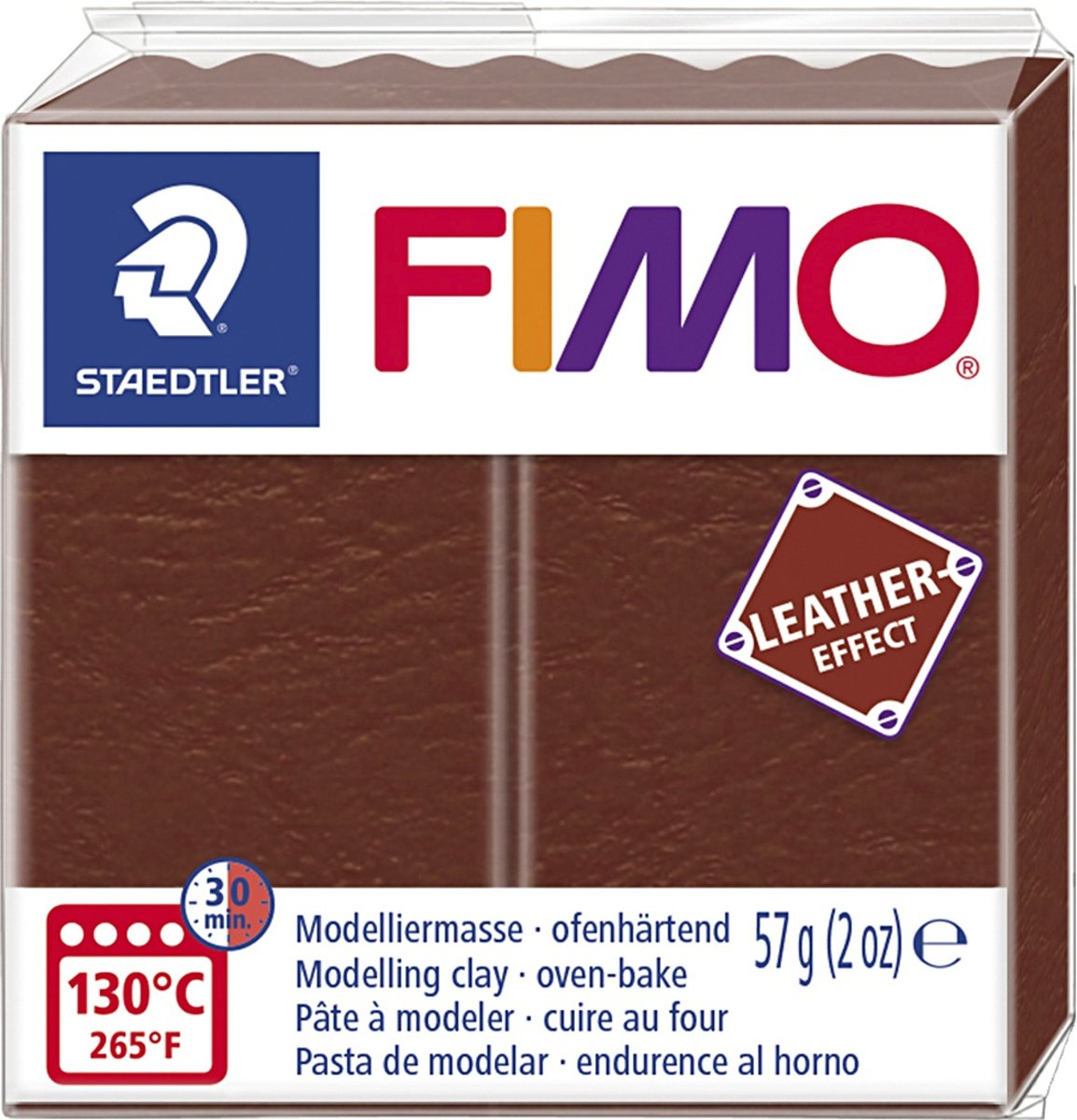 Fimo Effect leather 57 g noot 8010-779