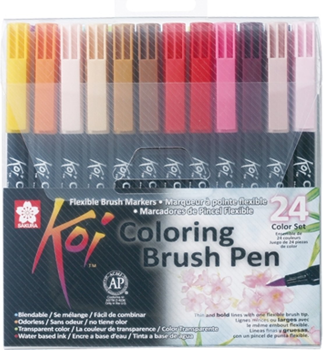 Koi Coloring Brush Pen set 24 kleuren brushpen penseelpen penseelstift