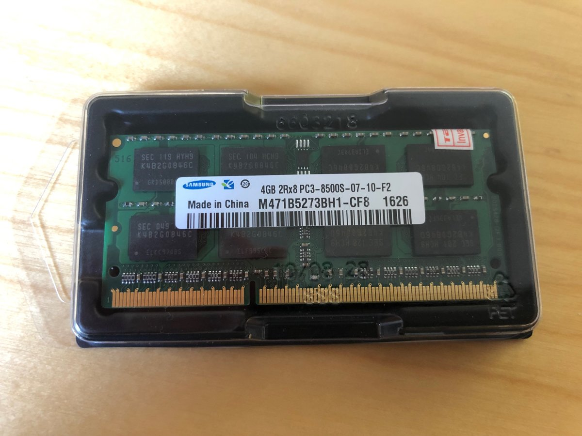 4GB DDR3-1066 PC3-8500 SAMSUNG M471B5273BH1-CF8 LAPTOP MEMORY