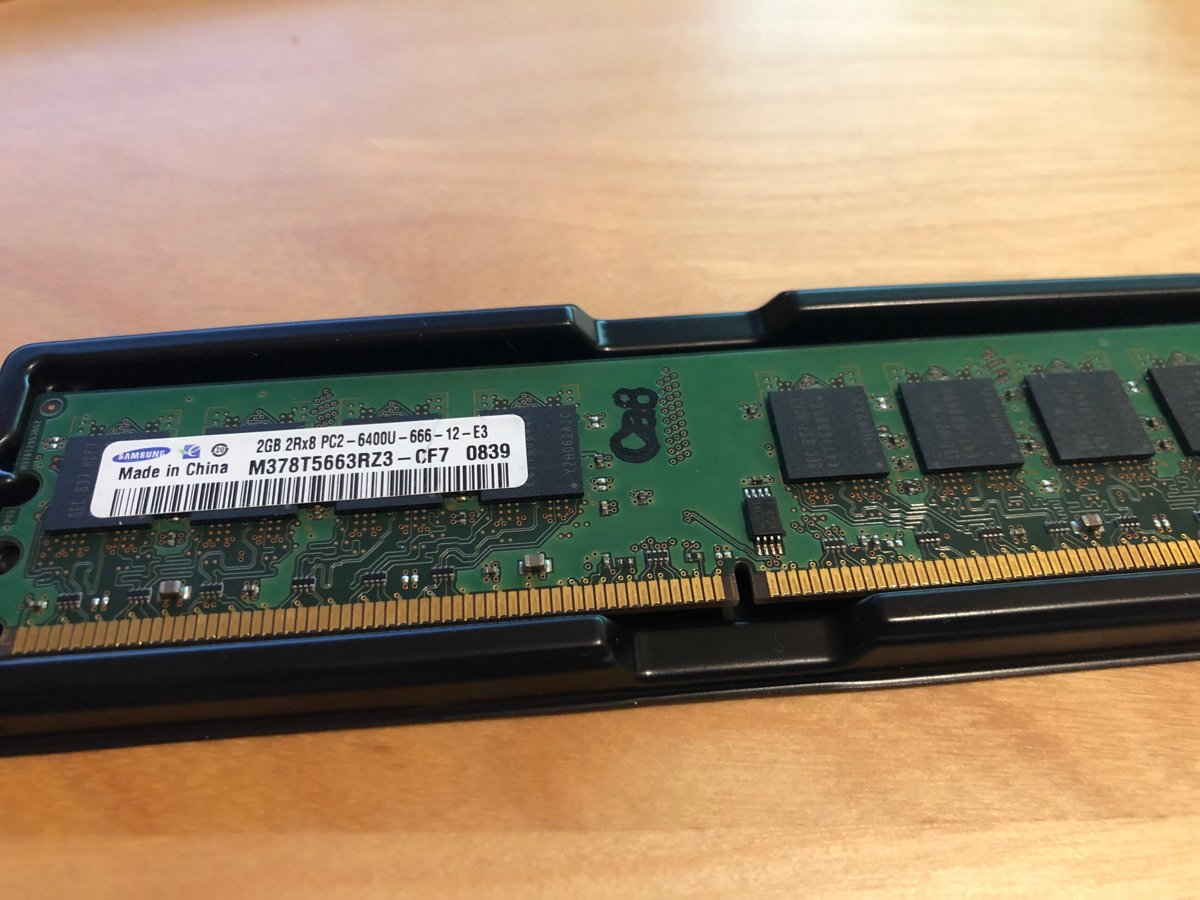2GB, DDR II SDRAM, 800MHz, CL6