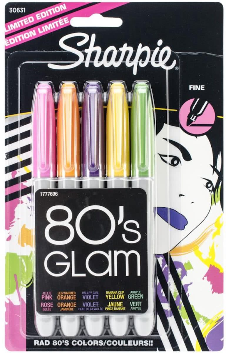 Sharpie 80s Glam fine point. Set van 5