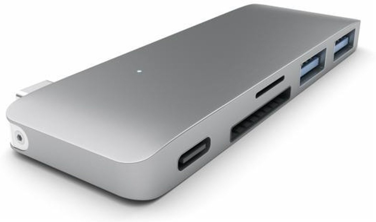 Satechi Type-C USB Passthrough Hub - Space Grey