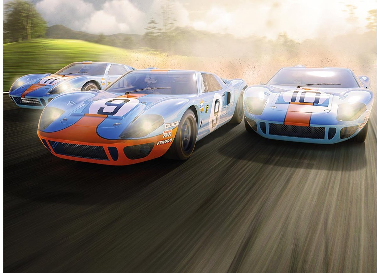 - Ford Gt40 1968 Gulf Triple Pack L.d. (Sc3896a)