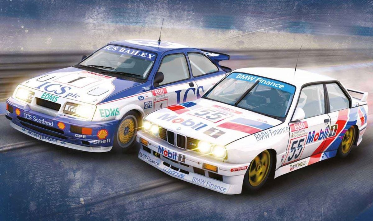 - T.c.l. Twin Pack Ford Sierra Rs500 & Bmw E30 L.d. (Sc3693a)