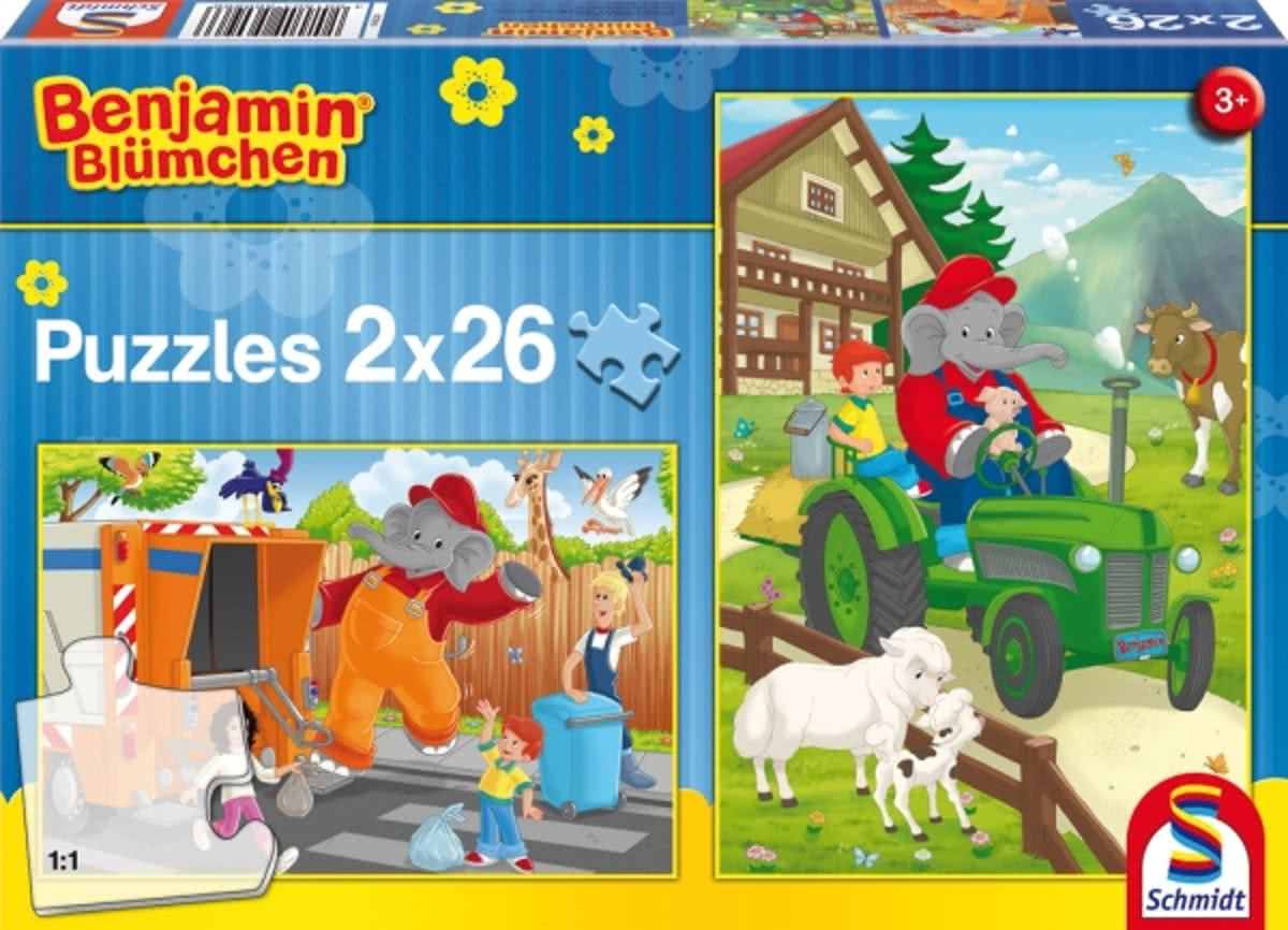 Benjamin in Action, 2x26 pcs - Kinderpuzzel