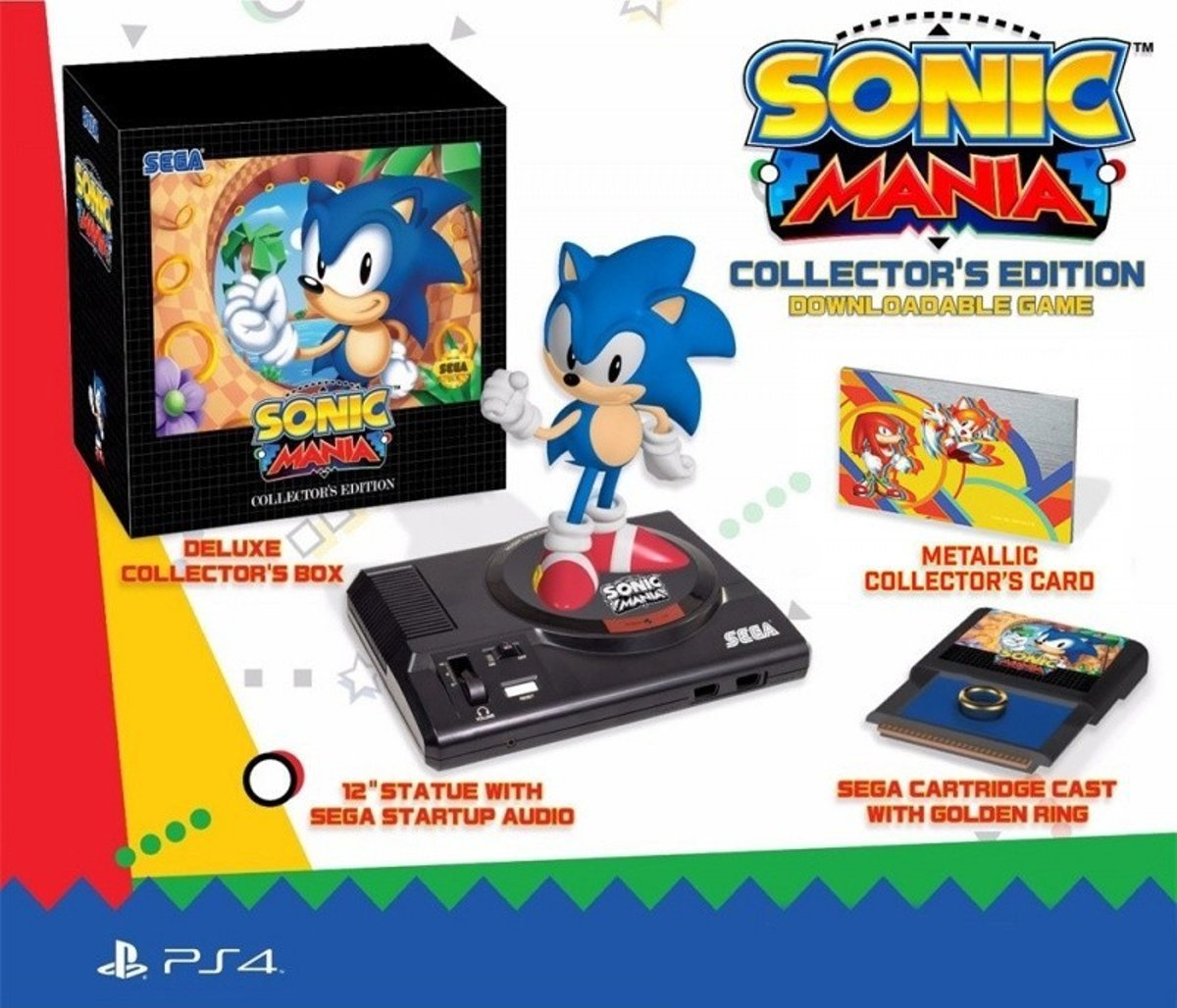 Sonic Mania Collectors Edition (German outer Sleeve, English inner carton/EFIGS IN Game) /PS4