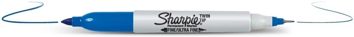 Twin Tip permanent marker blauw