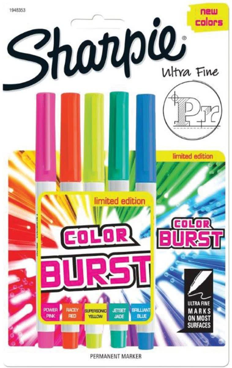 color burst set van 5 ultra fijne punt
